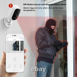 Caméra De Batterie Rechargeable Sans Fil Sans Fil 1080p Hd Système De Sécurité Ip Extérieur
