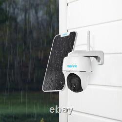 Caméra De Batterie Sans Fil Sans Fil Pan/tilt Smart Wifi 1080p Hd Argus Pt + Panneau Solaire
