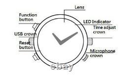 Caméra De Montre Spy 1296p Hidden Dvr Microphone Motion Detect Low Illumination 16g