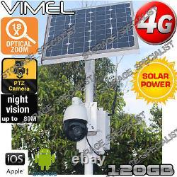 Caméra De Sécurité 4g Solar Ptz 18xoptical Zoom Motor Gsm Alarm Farm Live View 3g
