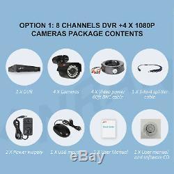 Caméra De Sécurité Cctv Anran Hdmi 4ch 6ch 8ch Vidéo Accueil Extérieur Système 1tb Hd