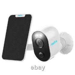 Caméra De Sécurité De Projecteur D'extérieur Wifi Batterie Pir 1080p Argus3 Avec Panneau Solaire