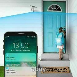 Caméra De Sécurité Sans Fil 1080p Wifi Solar Powered Waterproof 32g Memory Card