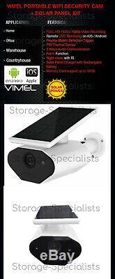 Caméra De Sécurité Sans Fil Alarme Accueil Extérieur Batterie Solaire Wifi Ip Vision Nocturne