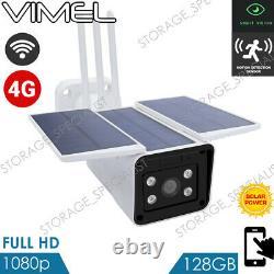 Caméra De Sécurité Solaire 4g 24/7 Real Live View 128go Sans Fil Wifi Pir Radar 3g