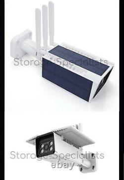 Caméra De Sécurité Solaire 4g 24/7 Real Live View Carte Sim Sans Fil Pir Radar 3g