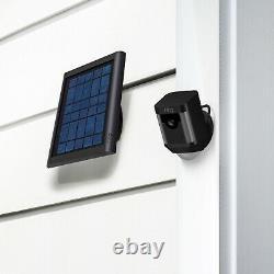 Caméra De Surveillance De Sécurité Anneau Spotlight Cam Solar Wireless Battery Hd Black