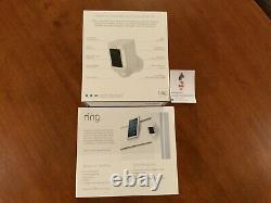Caméra De Surveillance De Sécurité Anneau Spotlight Cam Solar Wireless Battery Hd White