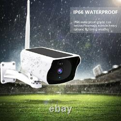 Caméra Ip Solaire 1080p Wifi Ip67 Night Vision Security 32gb Carte Sans Fil