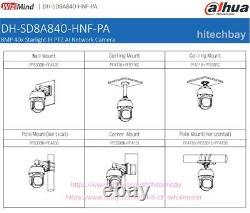 Dahua Sd8a840-hnf-pa 4k Starlight Ai 40xzoom Ptz Caméra Ip 8mp Hi-poe Auto-track