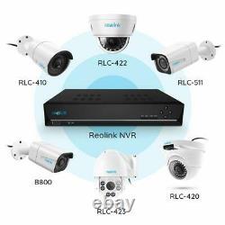 Enregistreur Vidéo 8ch Poe Nvr 2 To Hdd Network Pour Caméras De Sécurité Reolink Rln8-410