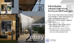 Extérieur Ip Sans Fil Wifi 128go Sécurité Solaire Lumière D'inondation Pir Caméra