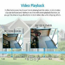 Extérieur Sécurité Cctv Caméra De Surveillance 8channel Nvr Système Home 1080p Hd 1to