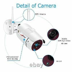 Extérieur Système De Sécurité Sans Fil Caméra Ip Avec 7 Moniteur Accueil Surveillance Kit