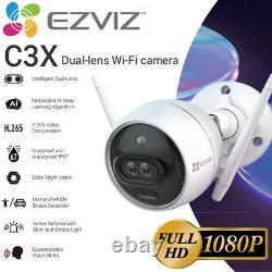 Ezviz Caméra De Sécurité Extérieure Wifi 1080p Smart App Color Night Vision C3x