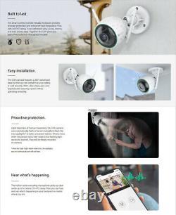 Ezviz Caméra De Sécurité Extérieure Wifi 1080p Smart App Colored Night Vision C3n
