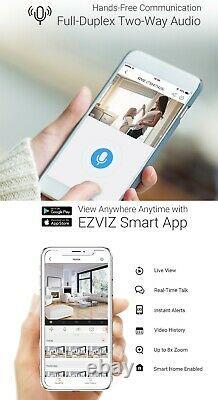 Ezviz Caméra De Sécurité Extérieure Wifi 1080p Smart App Night Vision 2-way Audio Lc1c