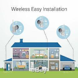 Funlux 4ch Hdmi Nvr 4 720p Wireless Home Vidéo Caméras De Sécurité Système 500gb Hdd