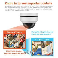 Gw 5mp 1920p Pan Tilt Zoom Hd Ip Poe Zoom Optique 5x Sécurité Caméra Dôme Ptz