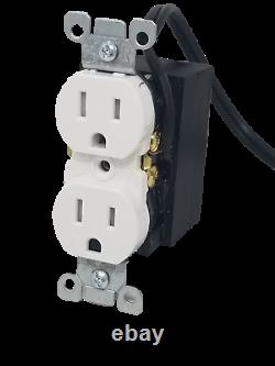Hardwired Functional Outlet Receptacle Plug Avec Wifi 4k Uhd Hidden Nanny Camera