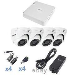Hd 1080p Kit De Caméra De Sécurité, Comprend Dvr, 4 Caméras, Alimentation Électrique Et Connecteurs