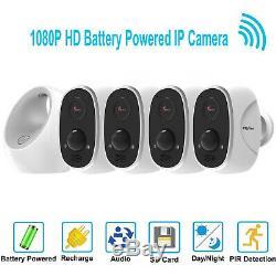 Hd 1080p Sans Fil Wifi Ip 4 Sécurité Système De Caméra Extérieure Alimenté Par Batterie Alexa