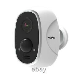 Hd 1080p Sécurité Sans Fil Wifi Ip 2 Caméra Extérieur Batterie Rechargeable Alimentée