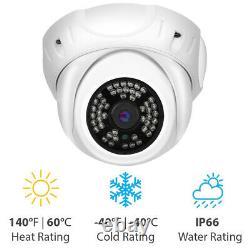Hd 5mp 1920p Poe Onvif Dome Weatherproof Microphone Ip Security Camera 48-ir Led
