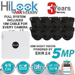 Hikvision 5mp Cctv Système Dvr 4 Canaux 8 Canaux Hd Caméra Dôme Extérieur Accueil Kit De Sécurité