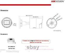 Hikvision Acusense 4k Ds-2cd2086g2-iu 8mp Caméra Ip Darkfighter Poe MIC 2.8/4mm