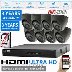 Hikvision Cctv Hd 1080p 2.4mp Vision Nocturne Extérieure Dvr Accueil Kit Système De Sécurité
