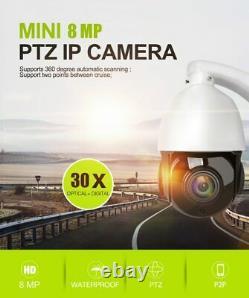 Hikvision Compatible 4k 8mp Poe Ip Speed Dôme Ptz Caméra 30x Zoom Onvif Ir 100m@