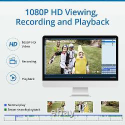 Hiseeu 4ch 1080p Wifi Wireless Security Ip Camer System Nvr Outdoor Home Ir Cam
