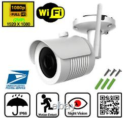 Home Wireless Security Camera System Outdoor 1080p 4 Ch Wifi Nvr Wd 1 To Disque Dur