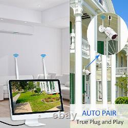 Home Wireless Security Camera System Outdoor 1080p 8ch Nvr 1 To Avec 15monitor