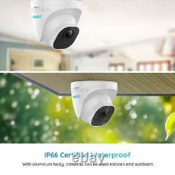 Kit Système De Caméra De Sécurité 5mp 8ch Poe Nvr Audio Surveillance 2 To Hdd Rlk8-520d4