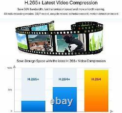 Kkmoon 4ch 1080p Dvr Outdoor Home Caméra De Sécurité Cctv Ir Night Vision