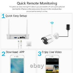 Kkmoon 4ch 1080p Wireless Nvr Wifi Outdoor Home Security Ip Camera System Kit