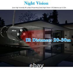 Kkmoon 4ch Wireless 1080p Nvr 720p Extérieur Accueil Wifi Caméra Cctv Système De Sécurité