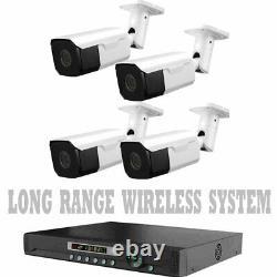 Long Range Wireless Transmettre Jusqu'à 1700 Ft Caméras De Sécurité Vision Nocturne Avec Dvr