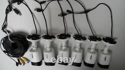 Lot De 6 Lorex Lbv2521-c 1080p Hd Bullet Caméra De Sécurité Vision De Nuit