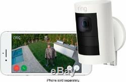 Marque Nouveau Ring Stick Up Intérieur / Batterie De Plein Air Alimenté Blanc Caméra De Sécurité