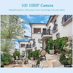 Moniteur Sans Fil 12 1080p Wifi Nvr Accueil Extérieur Système Caméra De Sécurité Ip Audio