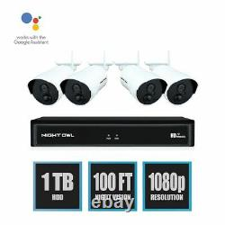 Night Owl Expandable 8-channel 1080p Wireless Security System Avec 4 Ip Camera