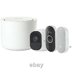 Nouveau Netgear Arlo Smart Home Security Kit Hd Pro Camera + Audio Doorbell + Carillon