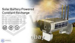 Outdoor Sans Fil Solar Powered Ip Wifi Sécurité Caméra De Lumière D'inondation