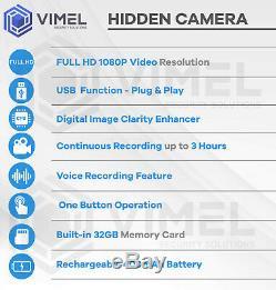 Professionnel Luxe Spy Pen Caméra Cachée Batterie Longue Durée Full Hd 1080p