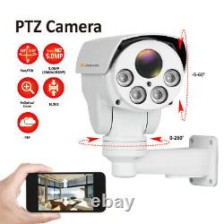 Ptz 5mp Poe Audio Security Ip Camera Accueil Cctv Outdoor 4x Zoom Ir Vision Nocturne