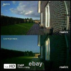Reolink 1080p 4g Appareil Photo De Sécurité Mobile Rechargeable Pan Tilt Go Pt + Panneau Solaire