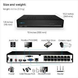 Reolink 16ch Poe Security Camera System 8x 5mp Poe Ip Camera 5mp Nvr K16-410b8-5